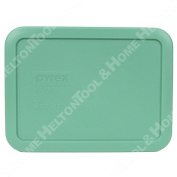 Pyrex 7210-pc 3 Cup Rectangular Green Plastic Replacement Lid Cover Made In Usa