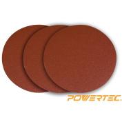 Powertec 110613 30cm Psa 120 Grit Aluminium Oxide Sanding Disc, Self Stick, 3