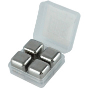 Stainless Steel Chilling Ice Cubes Reusable For Whiskey Wine Beverage, Set Of 4