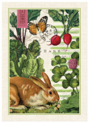 Michel Design Works Garden Bunny Cotton Kitchen Towel, Multicolor, New, Free Shi