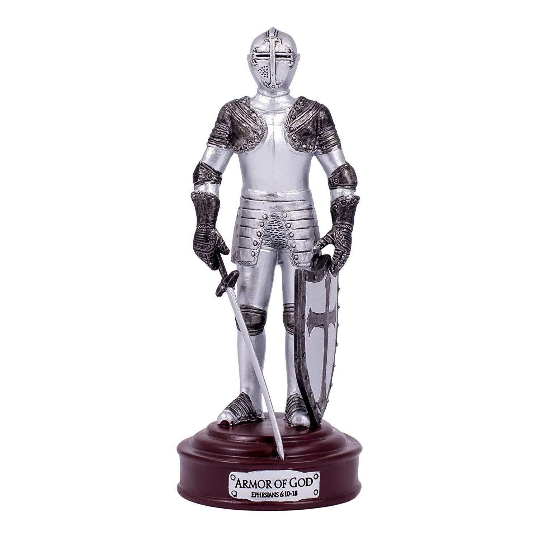 Full Armour Of God Ephesians 6 Resin Stone 13cm Knight Figurine, New, Free  Ship