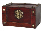 Vintiquewise Mini Treasure Chest, Antique Cherry, Small