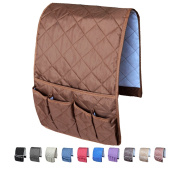 MDSTOP Sofa Couch Chair Armrest Organiser, Fits for Phone, Book, Magazines, TV Remote Control