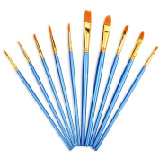 Mudder 10 Pieces Artist Paint Brushes Set Art Painting Supplies For Acrylic A...
