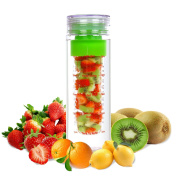 LA Organics Fruit Infuser Water Bottle 710ml BPA Free Tritan Leak Proof Sport Water Bottle - FREE Fruit Infusion Recipe Ebook Gift Included