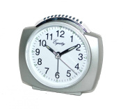 Equity By La Crosse 27006 Battery Operated Analogue Alarm Clock, Silver [27006]