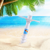 Ohuhu Beach Umbrella Sand Anchor Stand Holder With 5-tier Screw One Size Fits...