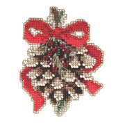 Pinecone Beaded Cross Stitch Kit Mill Hill Winter Holiday Mh185304