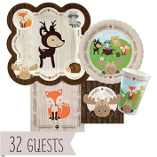 Woodland Creatures Baby Shower Or Birthday Party Tableware Plates Cups Napkins B