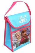 "Disney Frozen ""snow Queen"" Elsa Anna Non Woven Vertical Lunch Bag 10 X 4 X 7 New"