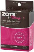 Zots Clear Adhesive Dots-bling Tiny 0.3cm 325/pkg
