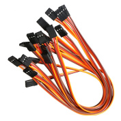 Vimvip 3pin 30cm Servo Extension Cable 22awg 60 Cores Wire Male To Male Futaba J