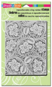 Stampendous Cling Leather Flowers Rubber Stamp Craft Precision Beautiful New