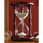 Lily's Home Hourglass Timer 60 Minute Cherry Wood Sand Clock 24cm