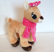 Rudolph The Red Nosed Reindeer Xmas Clarice 28cm Plush Doll W/scarf Nwt