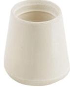 Shepherd 9752 Non-Skid Cushioned Furniture Leg Tip, 1.6cm Dia, Round, Off White