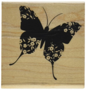 Hampton Art Beautiful Butterfly Wood Rubber Stamp, New,  .