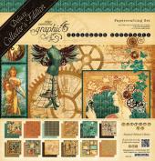 Graphic 45 Steampunk Debutante - Steampunk Debutante 12x12 Deluxe Collector's Edition Paper Pad