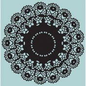 Sizzix Texture Fades A2 Embossing Folders -doily By Tim Holtz