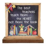 The Best Teachers Wooden Word Block - Freestanding – Plinth – - Enchante