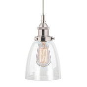 Linea Di Liara Fiorentino Brushed Nickel One-light Industrial Factory Pendant