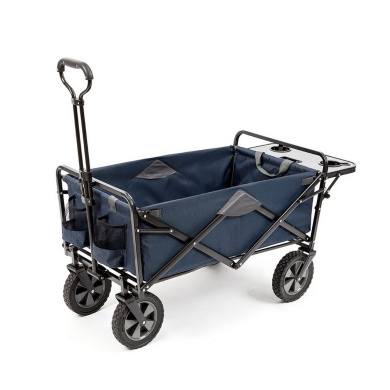 New Folding Blue Sports Beach Cart Waggon With Table Utility Mac Supplies Tote