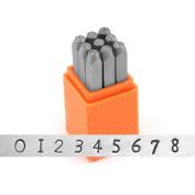 Impressart- Basic Newsprint Metal Stamp Set, Numbers- Steel Hand Jewellery Punches