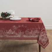 Openbox Benson Mills Christmas Story Engineered Jacquard Fabric Tablecloth, 150cm