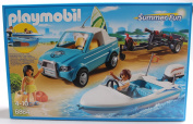 Playmobil 6864 Summer Pickup With Speed Boat And Motor New / Sealed
