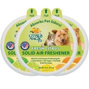 Citrus Magic Pet Odour Absorbing Solid Air Freshener, Fresh Citrus, 240ml New