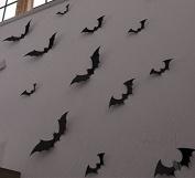 Yingkai Diy Halloween Party 15pcs/pack Black Pvc 3d Decorative Bats Butterfly...
