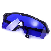 Hde Laser Eye Protection Safety Glasses For Red And Uv Lasers With Case Blue