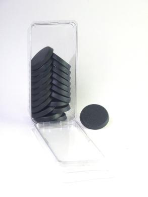 Value Pack Of 20 - 25mm Round Black Light Infantry Miniature Model Bases For Tab