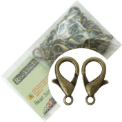 Rockin Beads Brand, 48 Antique Brass Plated Lobster Claw Jewellery Findings New