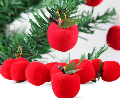 Lanue Christmas Red Apples Christmas Tree Decorations Hanging Ornaments Xmas New