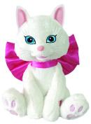 "Chantilly Lane ""smitten Kitten"" White Kitten With Big Bow Sings ""l.o.v.e."" 30cm"