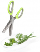 5 Blades Stainless Steel Shears Sharp Snip Chopper Herb Vegetable Salad Creative
