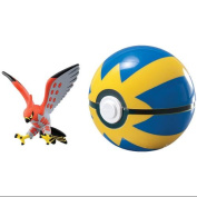 Pokemon X & Y Clip N Carry Pokeball Talonflame & Quick Ball Figure Set Action Fi