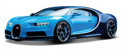 Maisto Bugatti Chiron Blue / Black 1:24 Diecast Model Car 31514