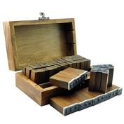 Ucec Letter & Number Rubber Stamp Set - Vintage Wooden Box - 70pcs/set