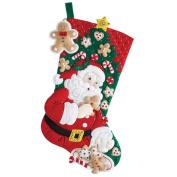 Snack Time Stocking Felt Applique Kit 46cm Long 046109866550