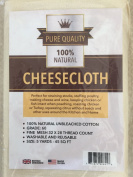 Cheesecloth - 4.2sqm *Grade 60 - 100% Unbleached Organic Natural Cotton Gauze - Lint Free - Filter, Strain, Reusable, Washable - Food Grade Fabric for Making Cheese, Nut Milks, Cooking, Basting Turkey - Butter Muslin - Best Lifetime Guarantee