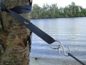 Hammock Tree Straps - 3.4m Long Heavy Duty Adjustable Polyester Seatbelt Quality - 450kg Capacity - Suspension Hanging Kit 2 S-Hooks & O-Rings - Won't Stretch like Nylon - Krazy Outdoors