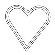 Heart Wire Wreath-41cm