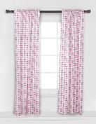 Elephants Pink/grey Mini Elephants Curtain Panel, New