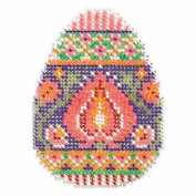 Lotus Egg Beaded Cross Stitch Kit Mill Hill Spring Bouquet Mh181712