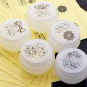 Lip Balm Stickers Lip Balm Labels Lip Balm Circle Clear Vinyl Stickers 5sheet 50