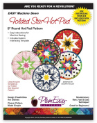 Plumeasy Patterns Rounded Folded Star Hot Pad Template, New,  .
