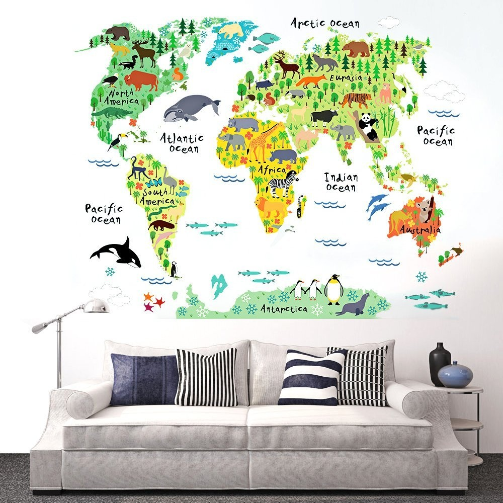 World map wall decal baby buy online from fishpond gumiabroncs Choice Image