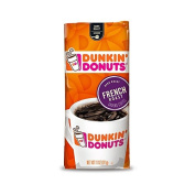 Dunkin' Donuts French Roast Ground Coffee, A Smooth & Bold Dark Coffee, 100 % Pr